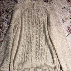 Cream colored Faux Pearl Karen Scott Sweater